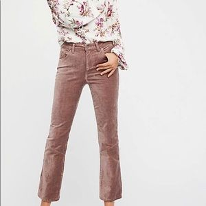 Free People cropped velvet flares